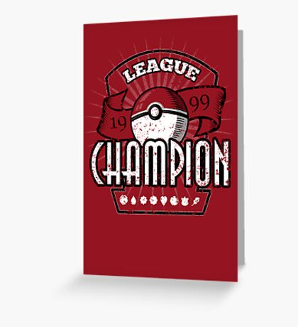 Pokemon League Champion Greeting Card