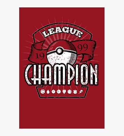 Pokemon League Champion Photographic Print