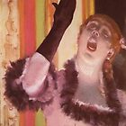 Edgar Degas French Impressionism Oil Painting Woman Singing by jnniepce