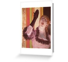 Edgar Degas French Impressionism Oil Painting Woman Singing Greeting Card