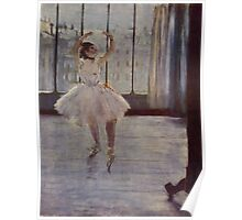 Edgar Degas French Impressionism Oil Painting Ballerina Practicing Poster