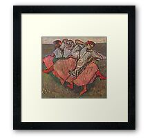 Edgar Degas French Impressionism Oil Painting Women Dancing Framed Print