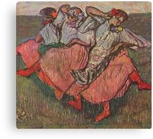 Edgar Degas French Impressionism Oil Painting Women Dancing Canvas Print