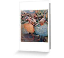 Edgar Degas French Impressionism Oil Painting Ballerinas Rehearsing Greeting Card
