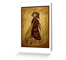 Fly (sepia) Greeting Card