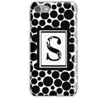 Black & White Bubble S iPhone Case/Skin