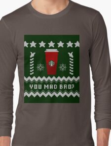 Parody - Starbucks Cup - Ugly Christmas Sweater Long Sleeve T-Shirt