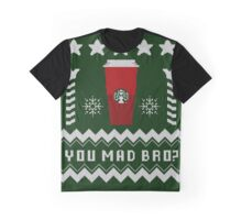 Parody - Starbucks Cup - Ugly Christmas Sweater Graphic T-Shirt