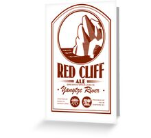 Red Cliff Ale Greeting Card