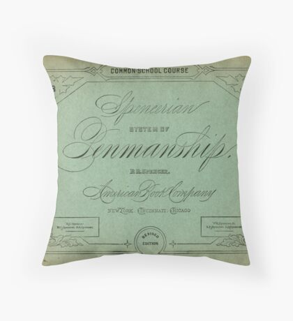 The Spencerian System of Penmanship  Throw Pillow
