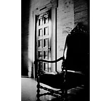 Leather Chair on Marble Photographic Print