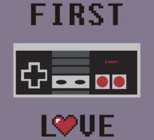 First Love Gaming T Shirt by MikeMedrano