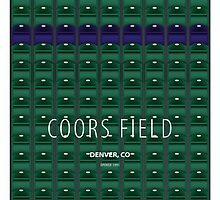 Minimalist Coors Field - Denver by pootpoot