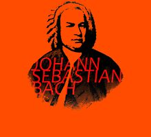 Johann Sebastian Bach vibrant portrait and text Unisex T-Shirt