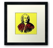 Johann Sebastian Bach vibrant portrait and text Framed Print