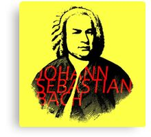 Johann Sebastian Bach vibrant portrait and text Canvas Print