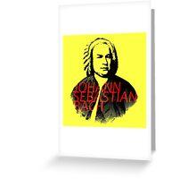 Johann Sebastian Bach vibrant portrait and text Greeting Card