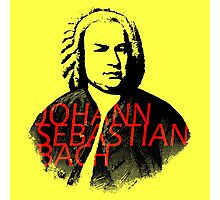 Johann Sebastian Bach vibrant portrait and text Photographic Print