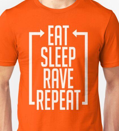 EAT SLEEP RAVE REPEAT (Centre Aligned) Unisex T-Shirt