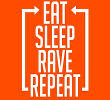 EAT SLEEP RAVE REPEAT (Centre Aligned) Unisex T-Shirt