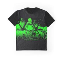 Lime Buddha and reflections. Graphic T-Shirt