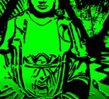 Lime Buddha and reflections. Sticker