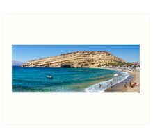 Matala panoramic view Art Print