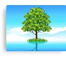 Tree in the water  Canvas Print