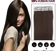Cheap 20pcs 24 Inch Tape In Human Hair Extensions Dark Brown For Sale by tiffanywuok1