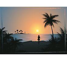 Tropical beach blue sunset Photographic Print