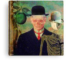 Ceci n'est pas une pomme Monsieur Bone Canvas Print