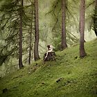 Girl in the woods by aufzehengehen