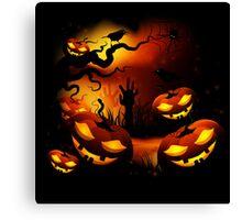 Halloween Pumpkins Canvas Print