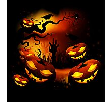 Halloween Pumpkins Photographic Print