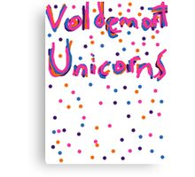 The Voldemort Unicorn Song Canvas Print