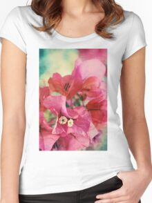 Bougainvillea at Sunset Women's Fitted Scoop T-Shirt