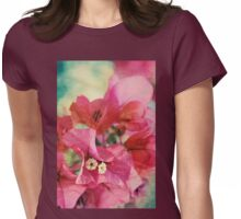 Bougainvillea at Sunset Womens Fitted T-Shirt