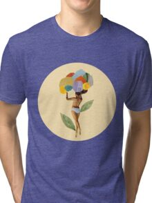 i walk out in the flowers and feel better Tri-blend T-Shirt