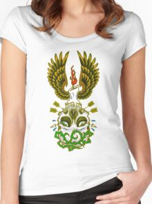 Wings of a Candle Women's Fitted Scoop T-Shirt