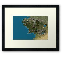 Map of Middle-Earth Framed Print