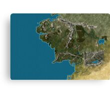 Map of Middle-Earth Canvas Print