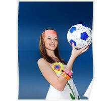 Beautiful girl with ball Poster