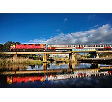 Breakwater train bridge Photographic Print