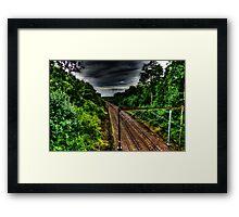 Dark Railway Framed Print