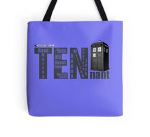 TENnant Doctor Who Tote Bag