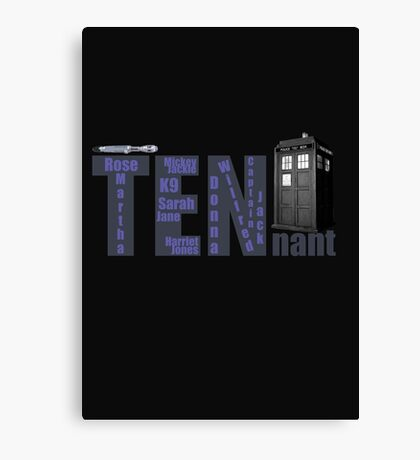 TENnant Doctor Who Canvas Print
