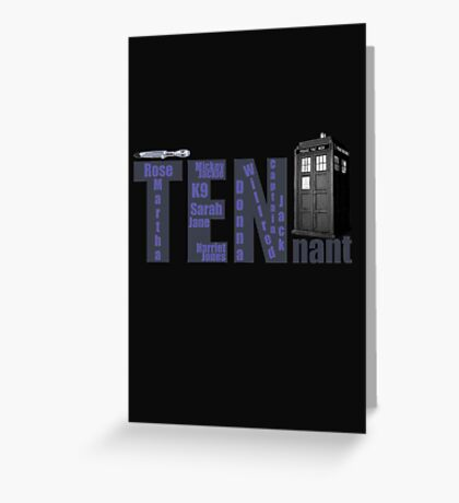 TENnant Doctor Who Greeting Card