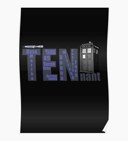 TENnant Doctor Who Poster