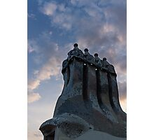 Whimsical Chimneys - Antoni Gaudi, Casa Batllo, Barcelona, Spain Photographic Print