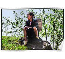Hmong woman, Sapa, Vietnam Poster